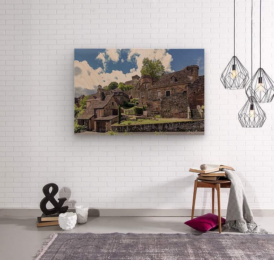 Castelnau Bretenoux  Wood print