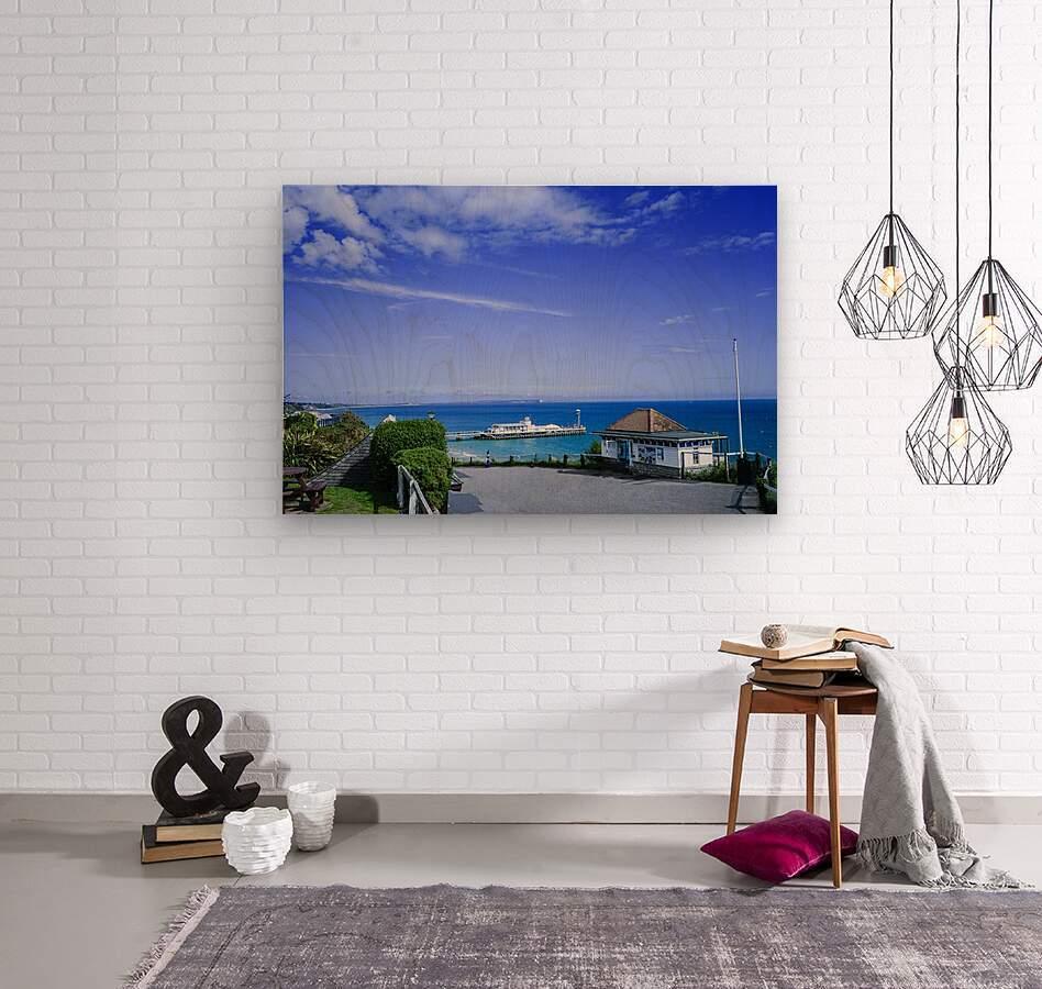 English Seaside Bournemouth  Wood print
