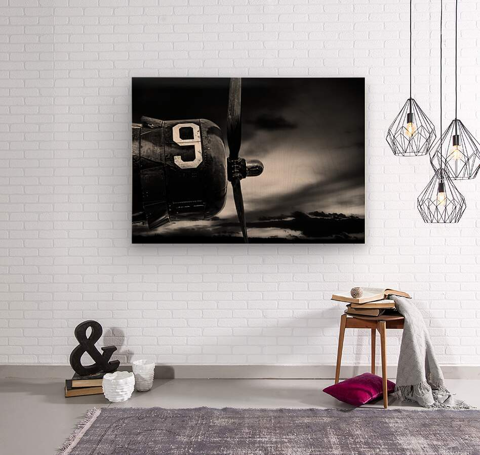 Number 9 Consolidated B24  Wood print