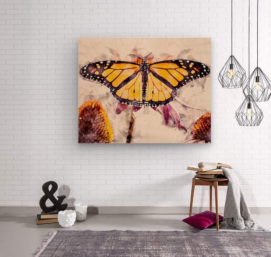 Monarch Butterfly  Wood print