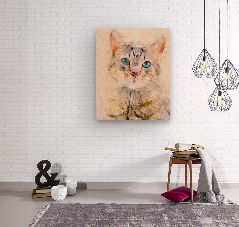 Dragon Li Hau cat  Wood print