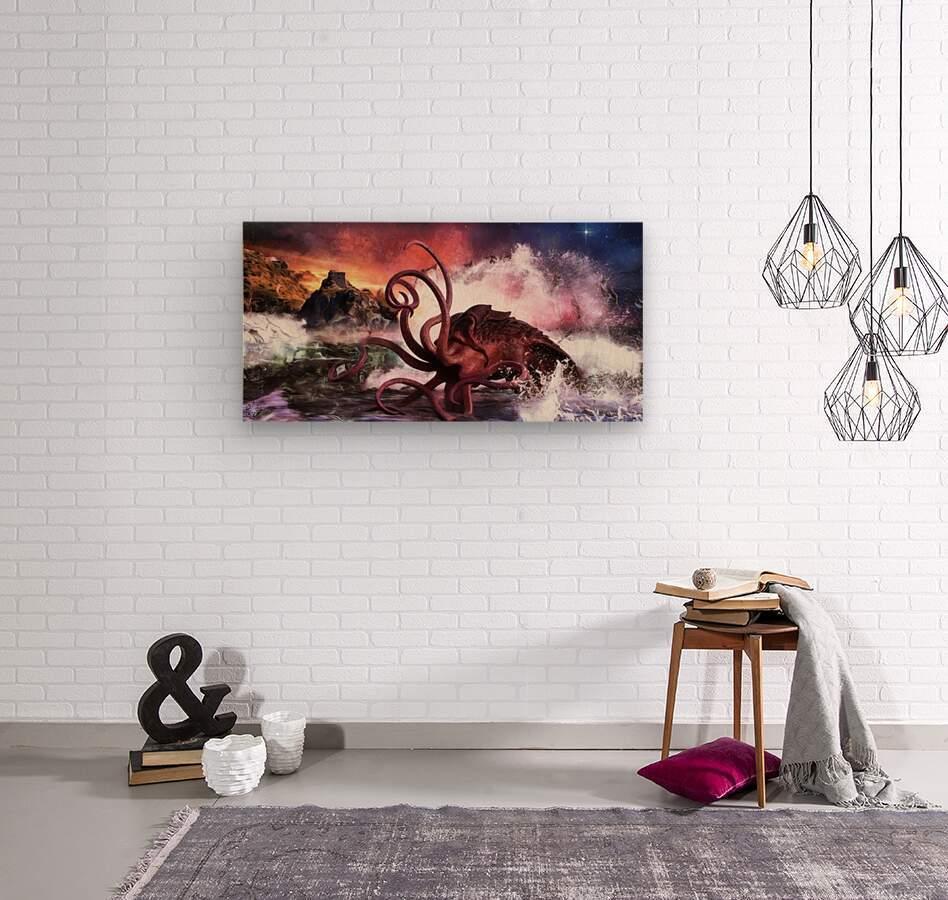 Kraken Bay  Wood print