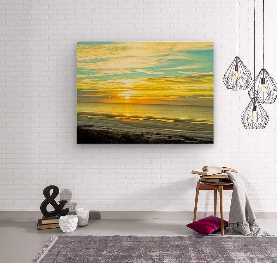 Sunrise in the Carolinas  Wood print