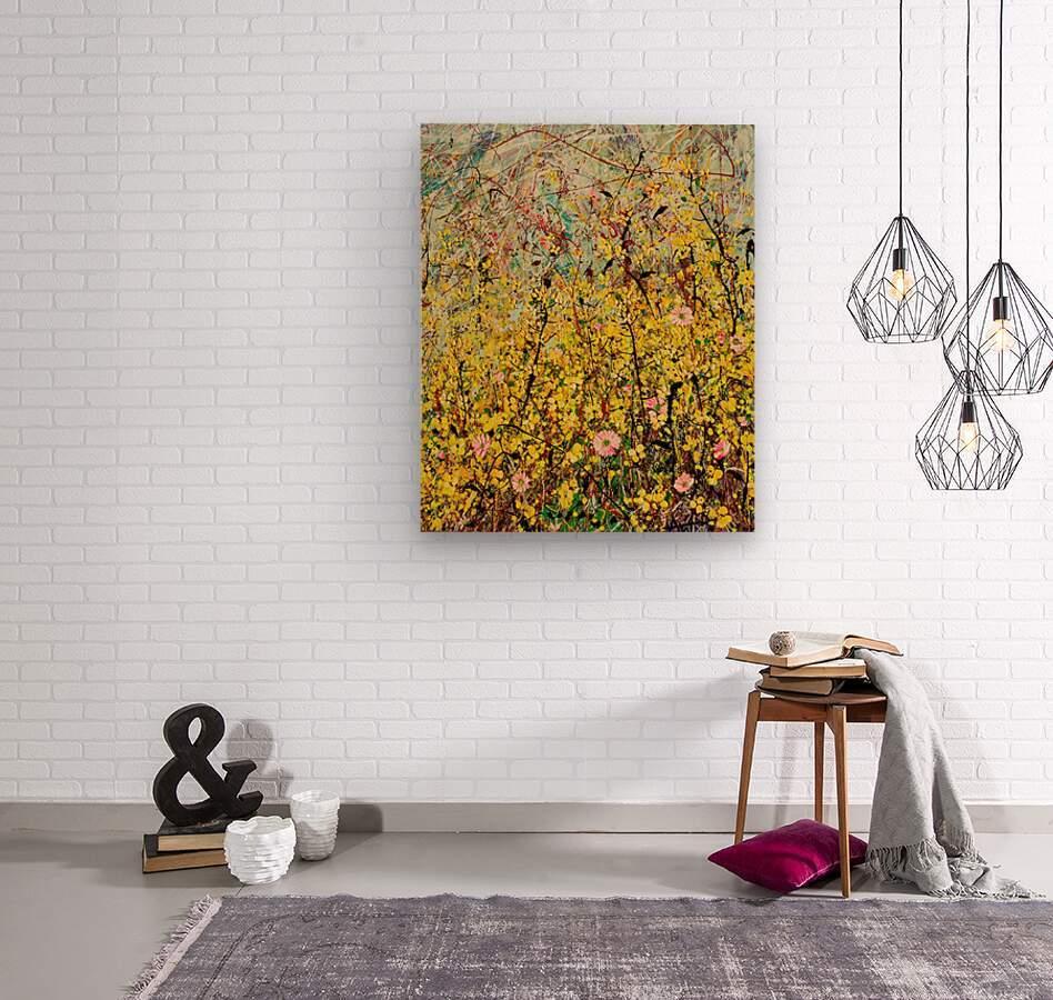 Symphony in Yellow Panel 2  Wood print