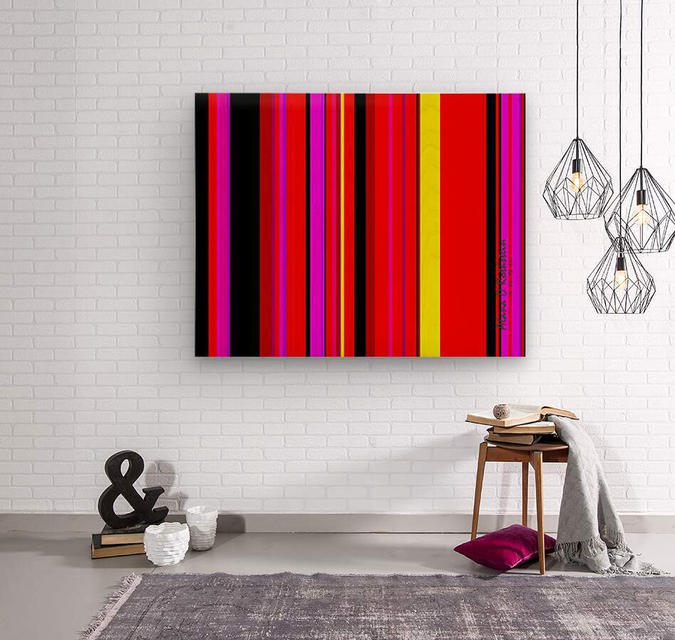 Color Bars 1  Wood print
