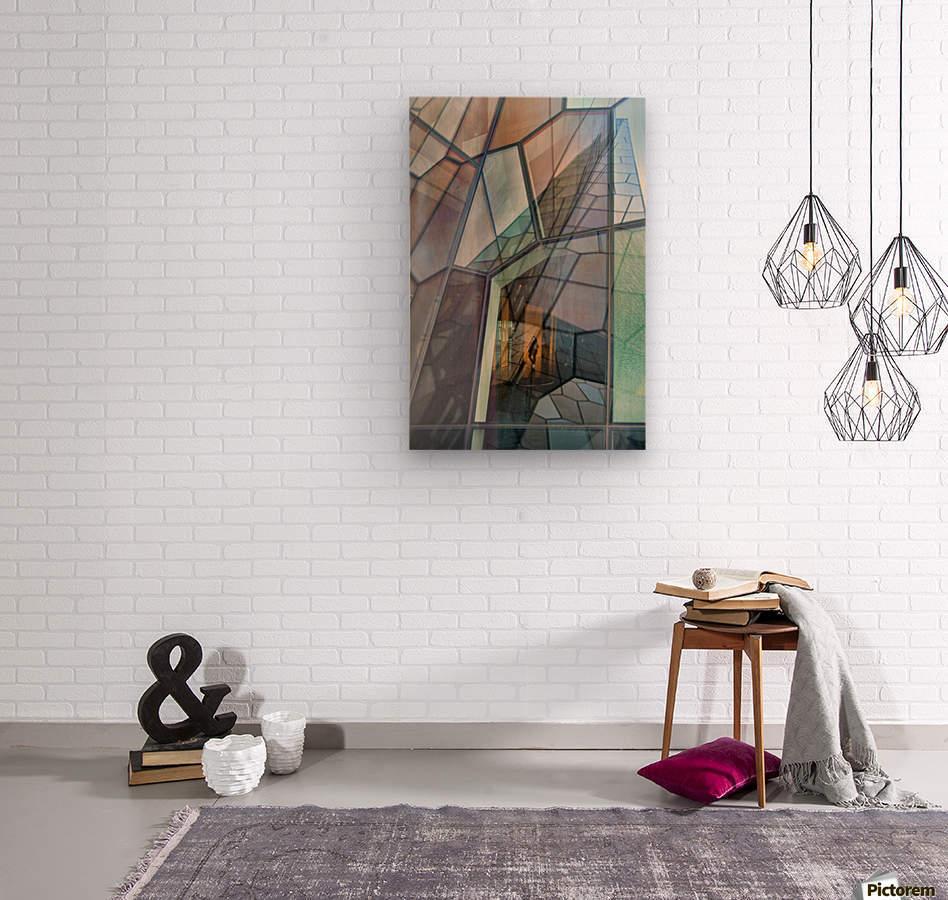 Colour Mosaic  Wood print