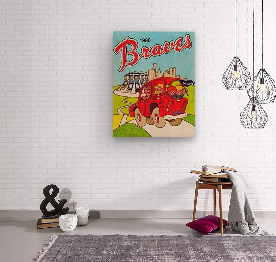 1980 Atlanta Braves Poster  Wood print