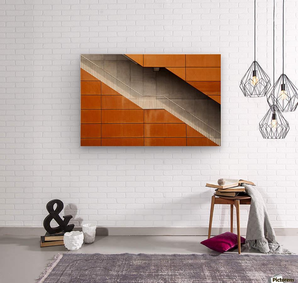 Steel  Wood print
