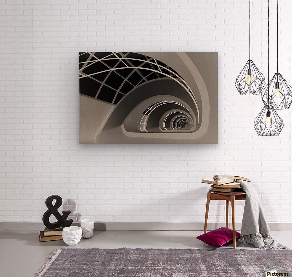 Antwerp-Stairs by jan niezen   Wood print