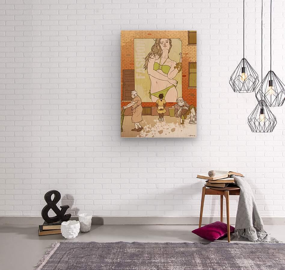 Fashion  Wood print