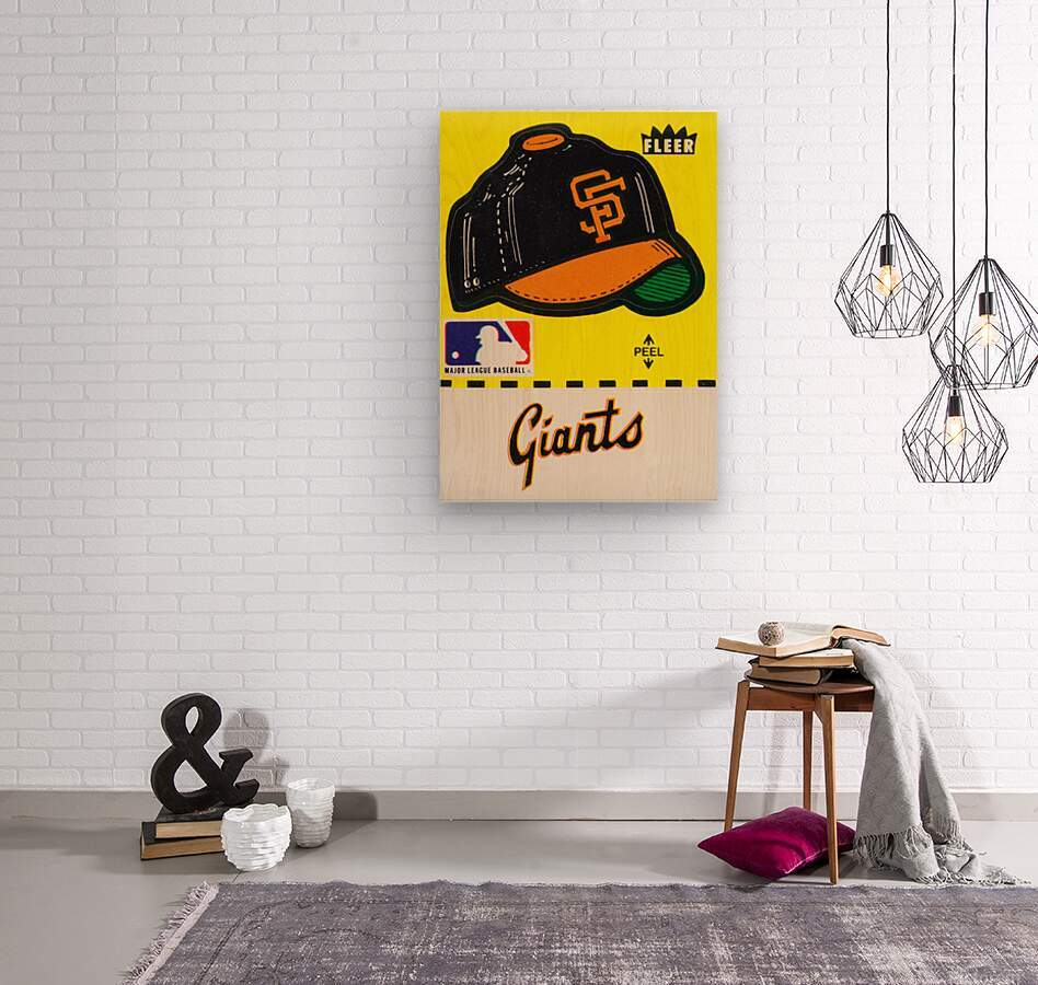 1981 San Francisco Giants Fleer Decal Poster  Wood print