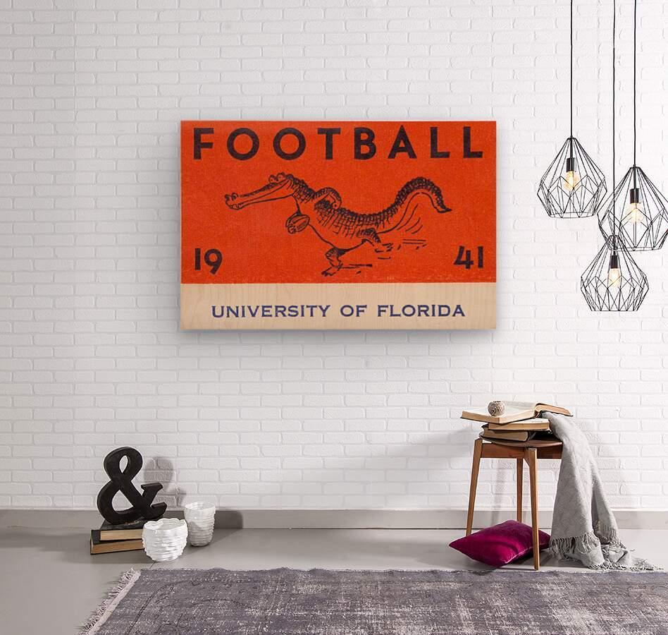 1941 Florida Gators Football  Wood print