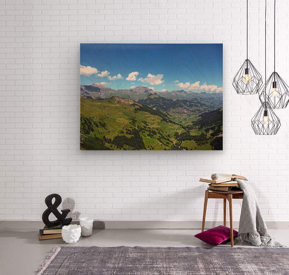 Swiss Highlands View to Forever  Wood print