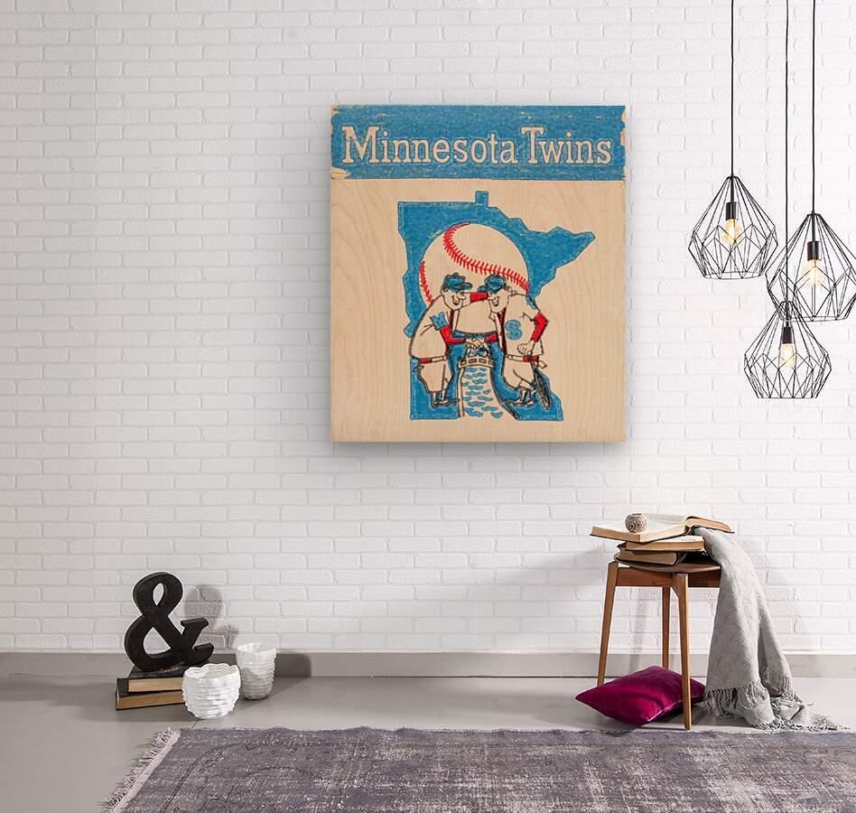 1967 Minnesota Twins Art  Wood print