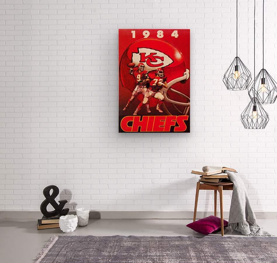 1984 Kansas City Chiefs Football Poster  Wood print