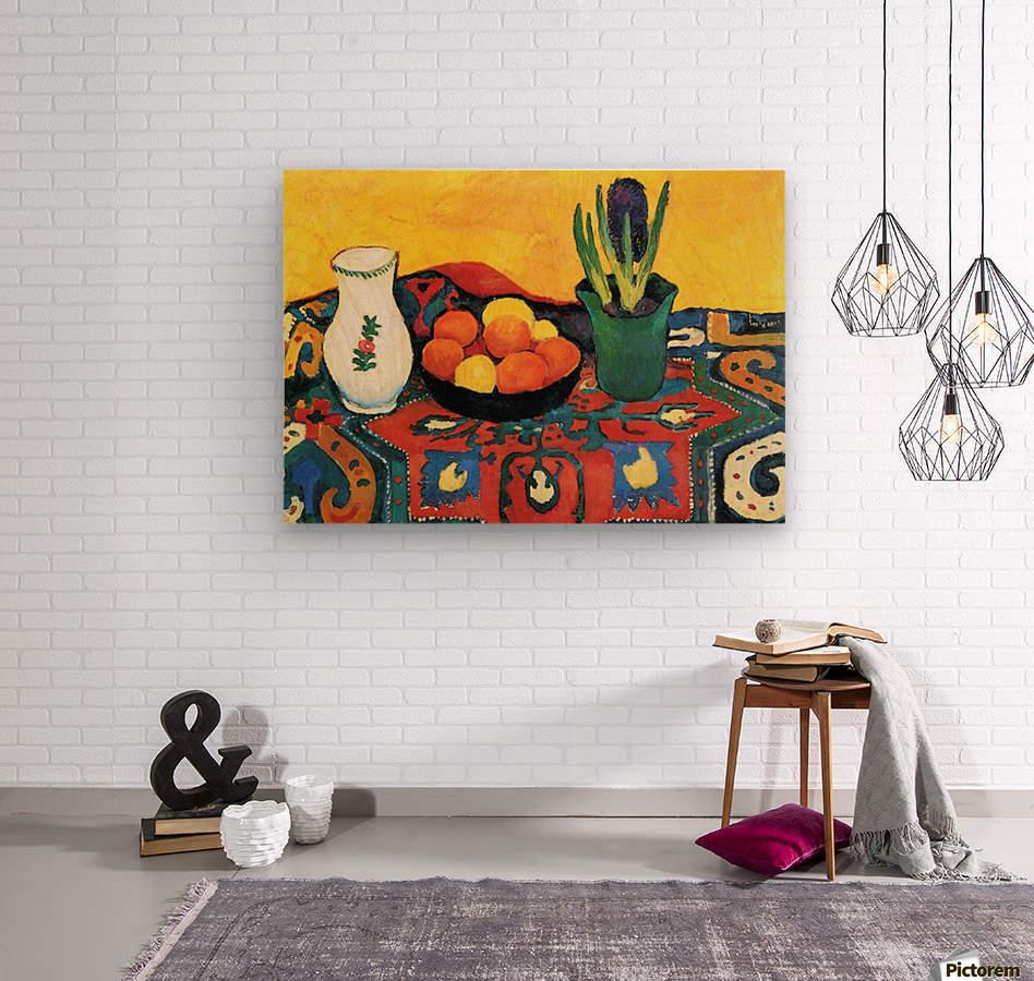 Still Life with Hyacinthe by Macke  Impression sur bois