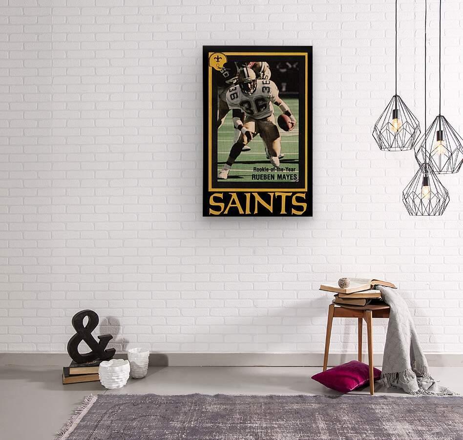 1988 New Orleans Saints Reuben Mayes Poster  Wood print