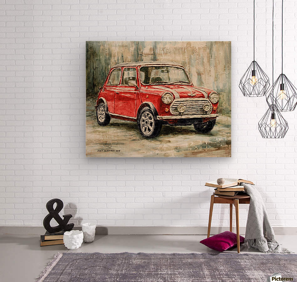 Mini Cooper S 2000  Wood print