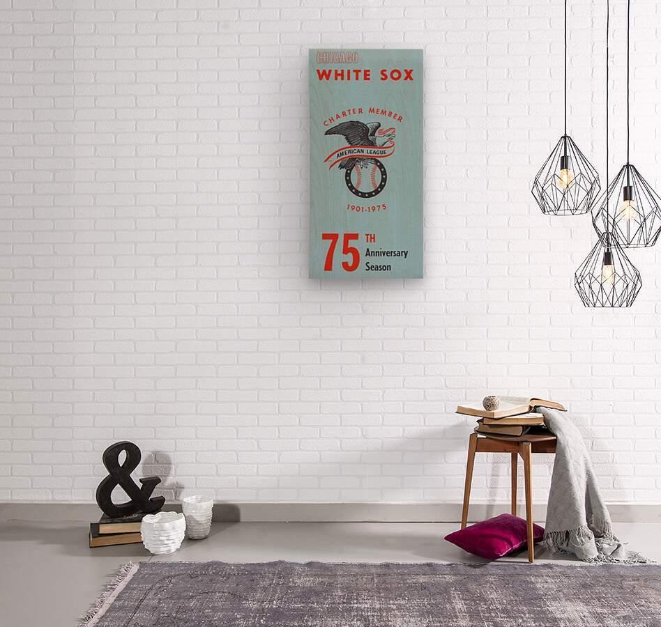 1975 Chicago White Sox Retro Poster  Wood print