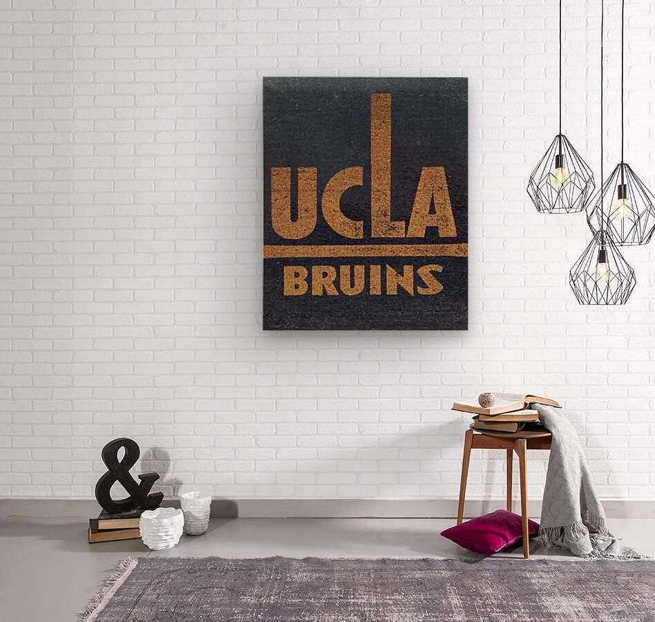 Vintage UCLA Bruins Art  Wood print