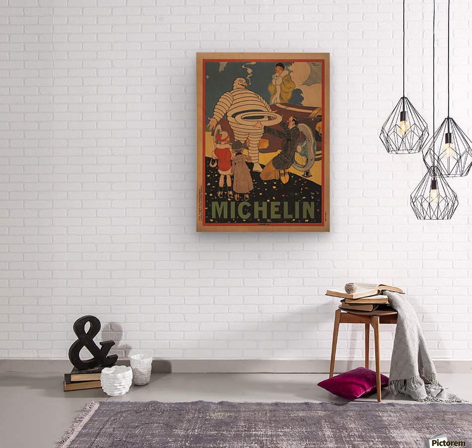 Michelin Pneu  Wood print