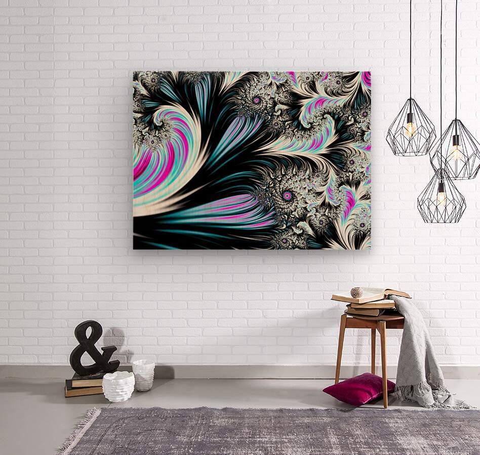 Abstract background waves.  Wood print