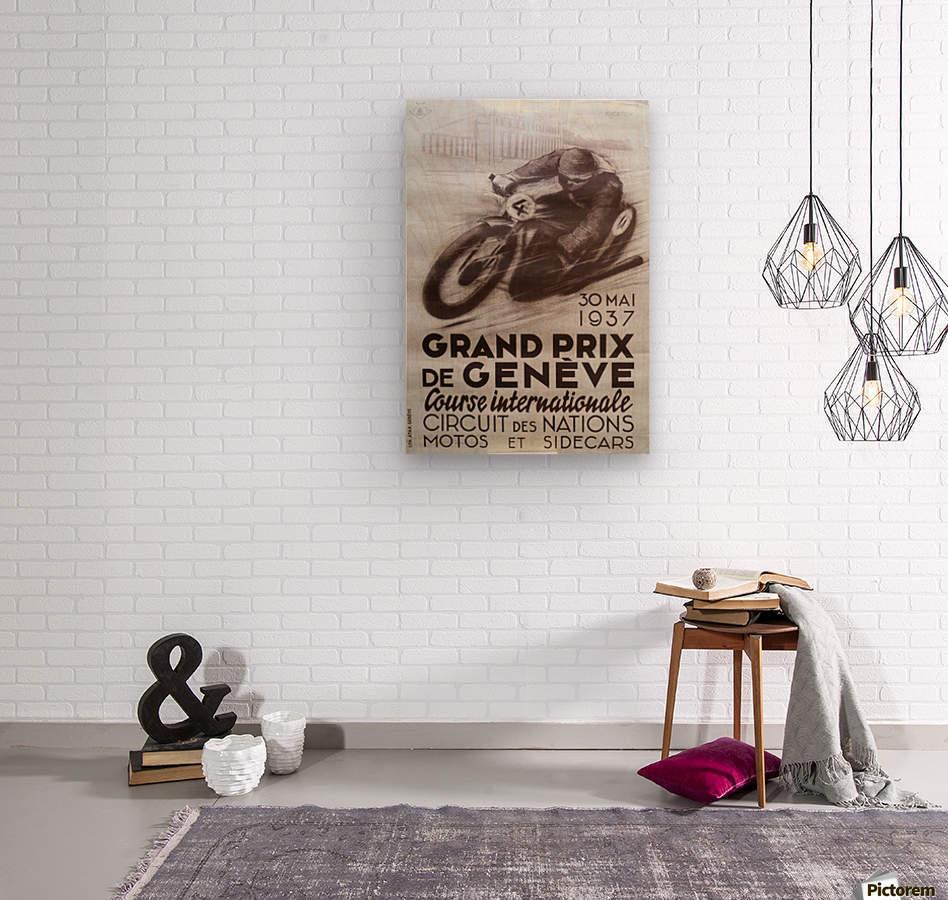 Grand prix de Geneve  Wood print