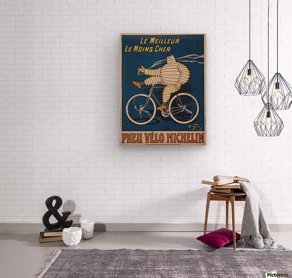 Pneu Velo Michelin  Wood print