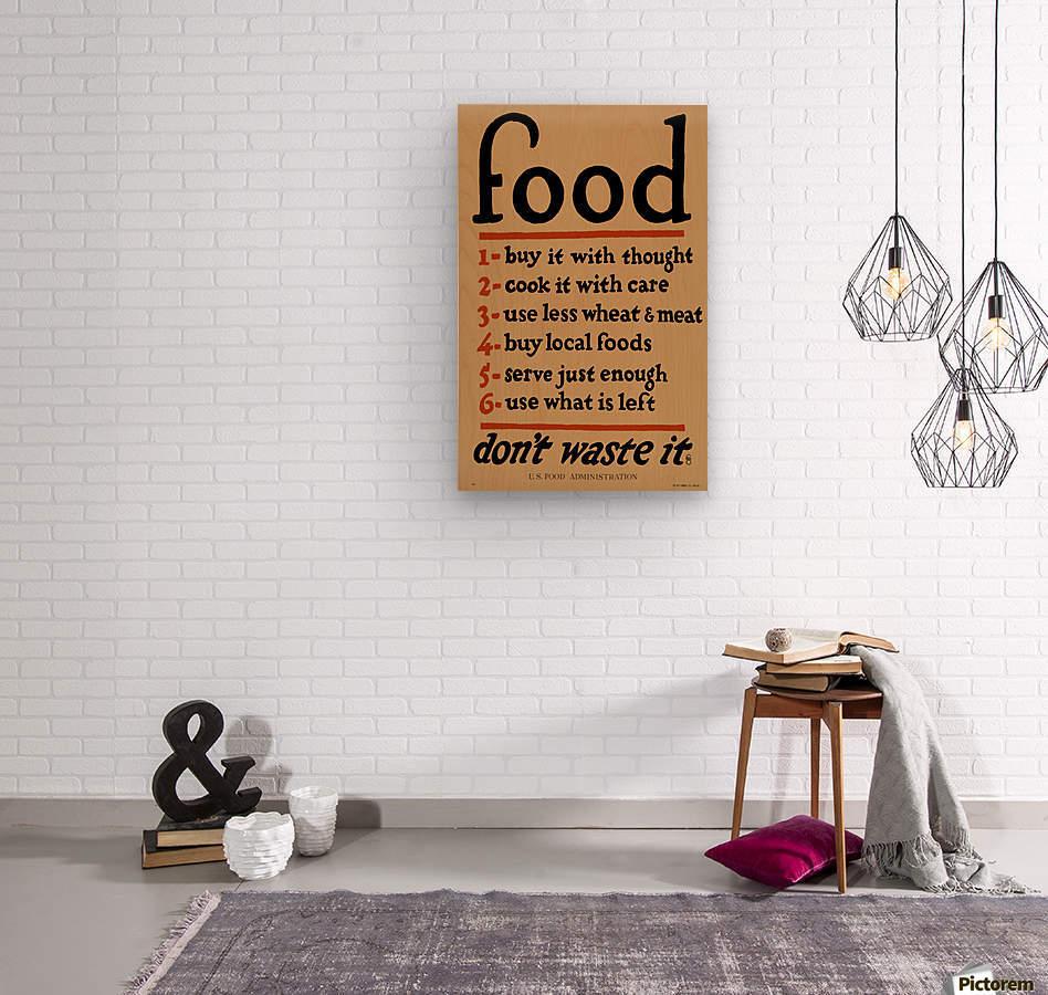 Food Poster  Wood print