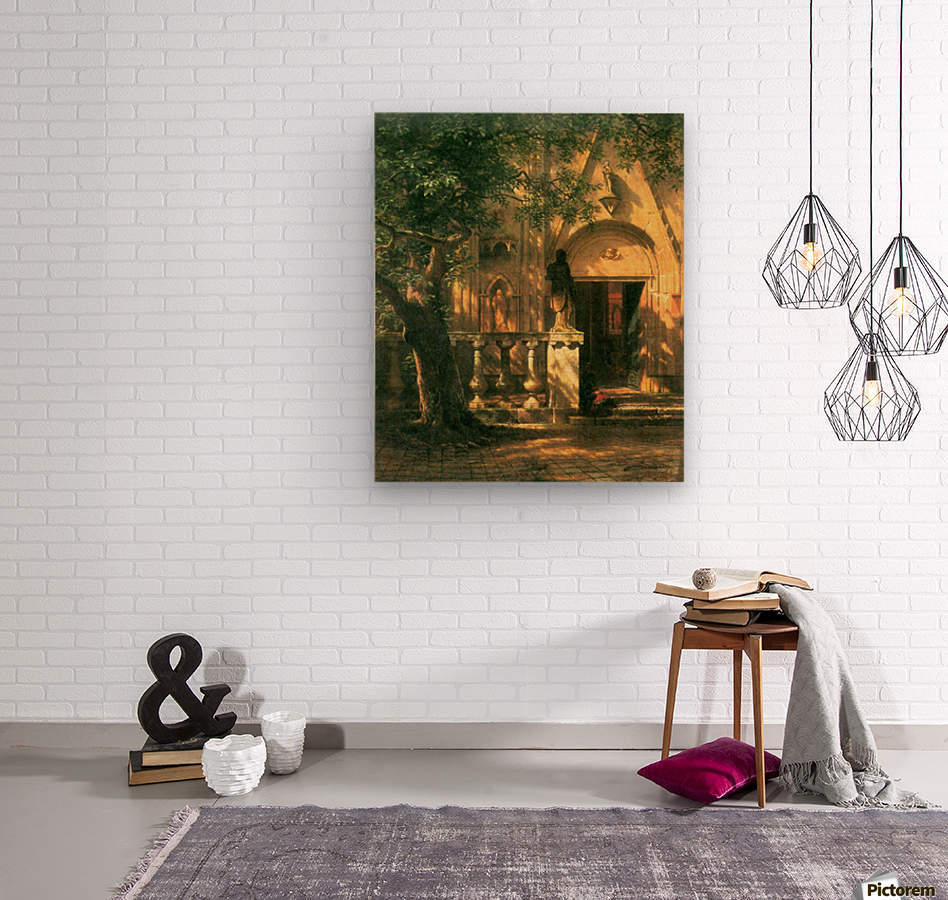 Sunlight and Shadow 2 by Bierstadt  Wood print