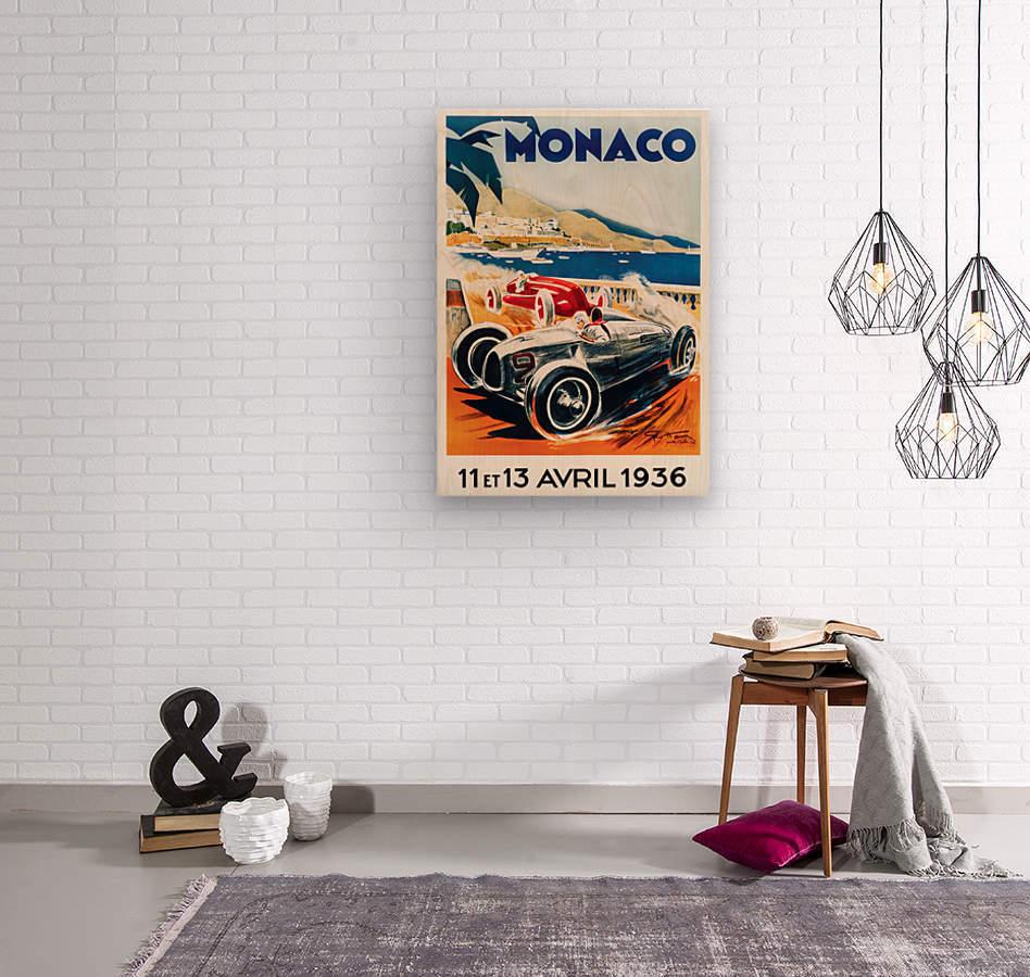Monaco April 1936  Wood print