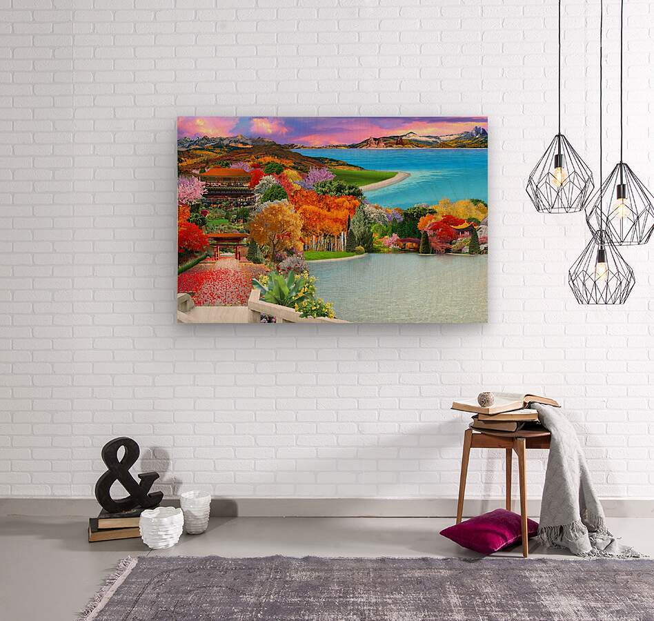 ASIAN HOME  Wood print