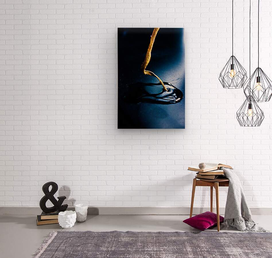 Gentle Blue Touch  Wood print