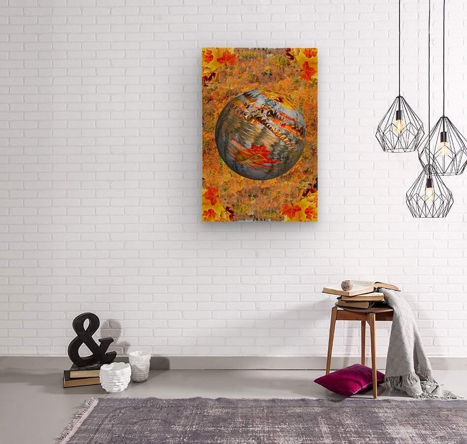 Abstract - Autumn II  Wood print