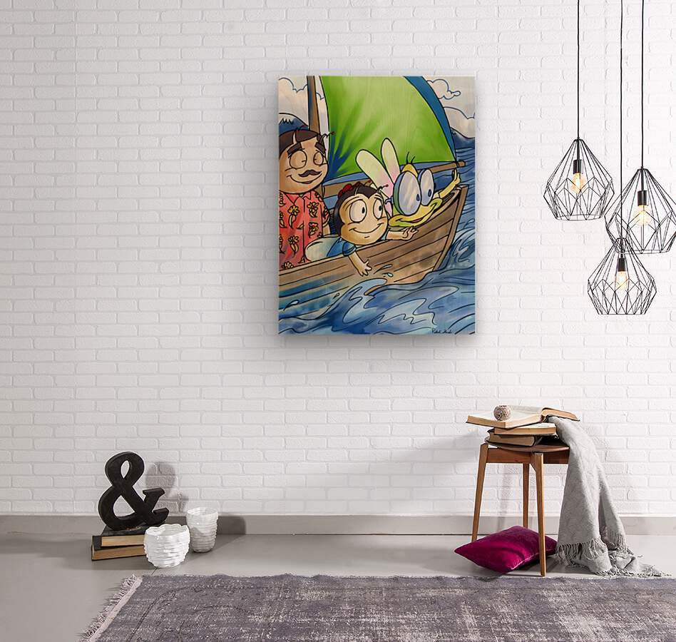 Sail Away with Us  Wood print