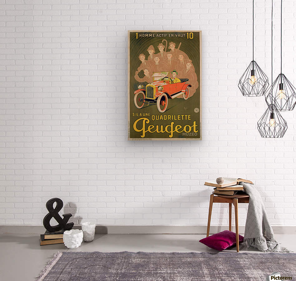 Quadrilette Peugeot  Wood print