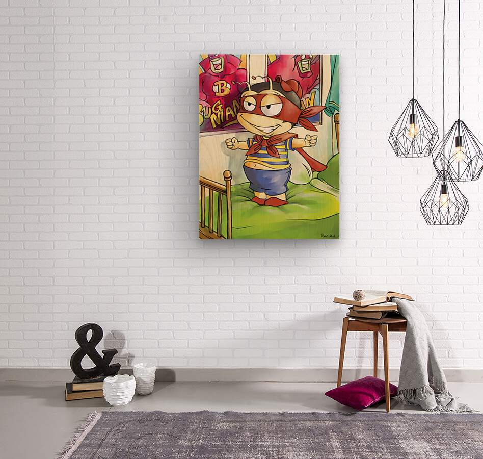 Its Super Buster to the Rescue  Wood print