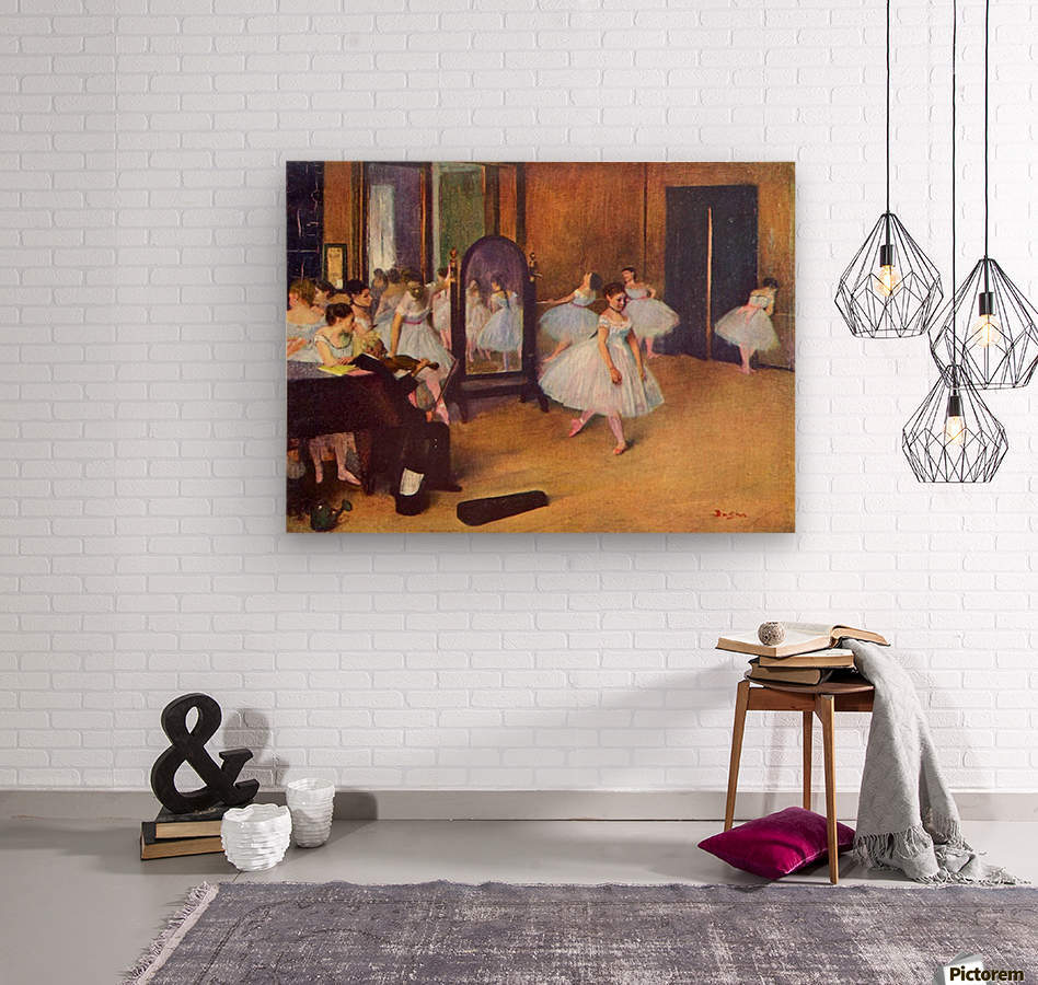 The dance hall by Degas  Wood print