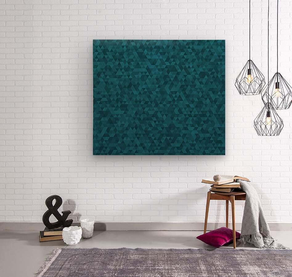 Dark Blue Glitter Pattern  Wood print