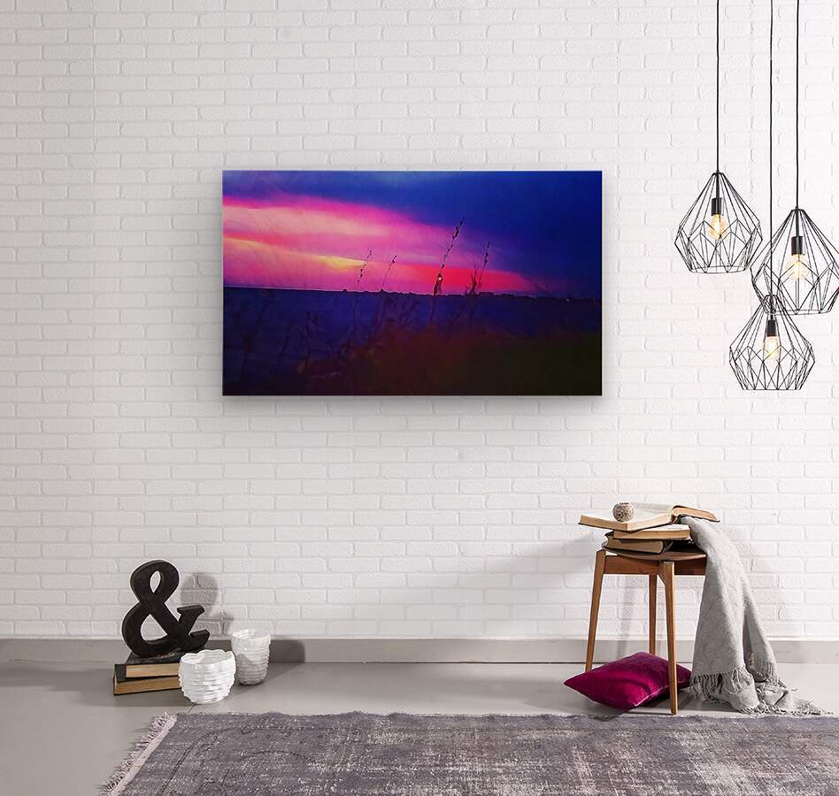 Burst of Pink  Wood print