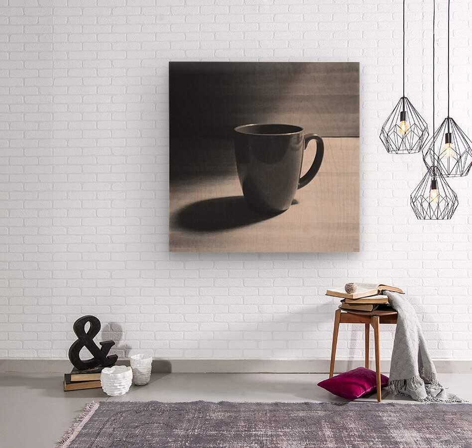coffee mug  Wood print