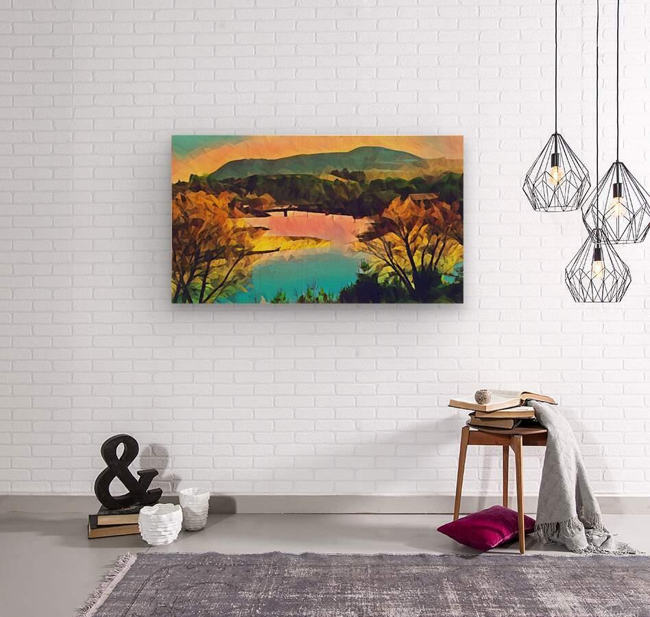 housatonic river monument mountain stockbridge mass  Wood print
