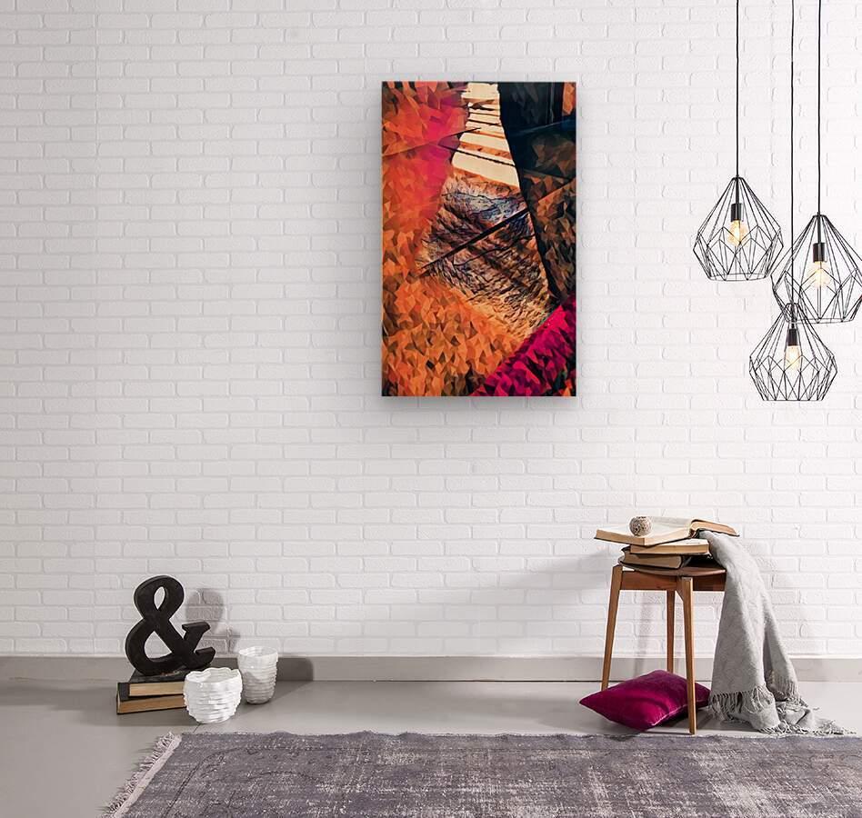 kitchen tiles morning greeting  Wood print