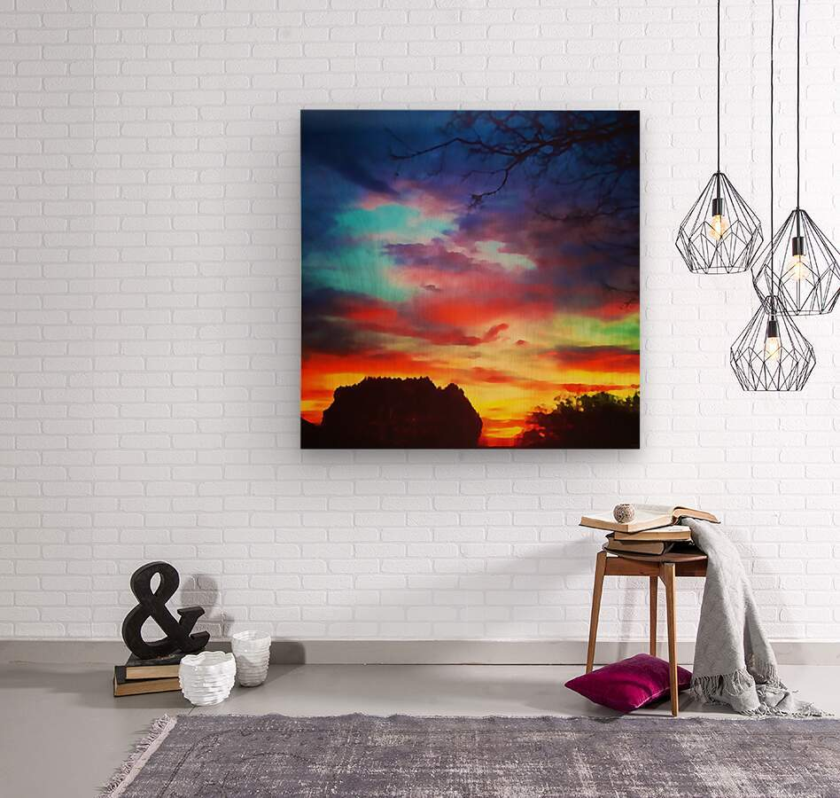 Bounty of Color  Wood print