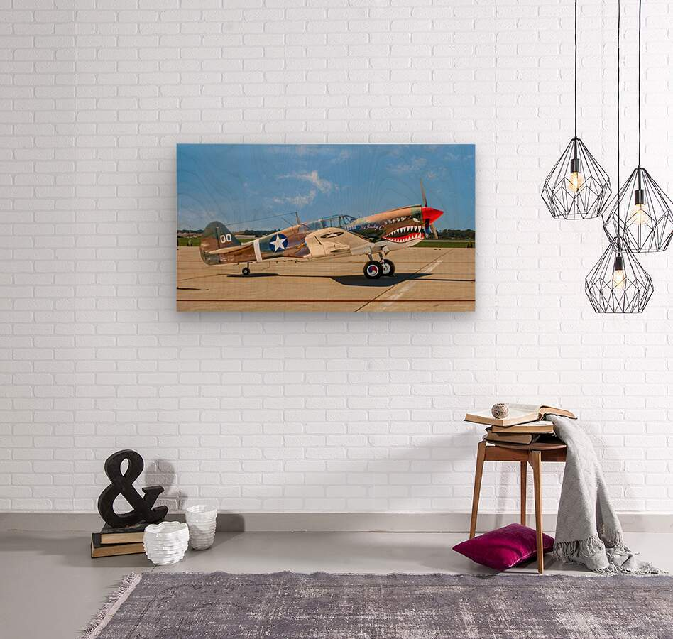 P 40 Warhawk  Wood print