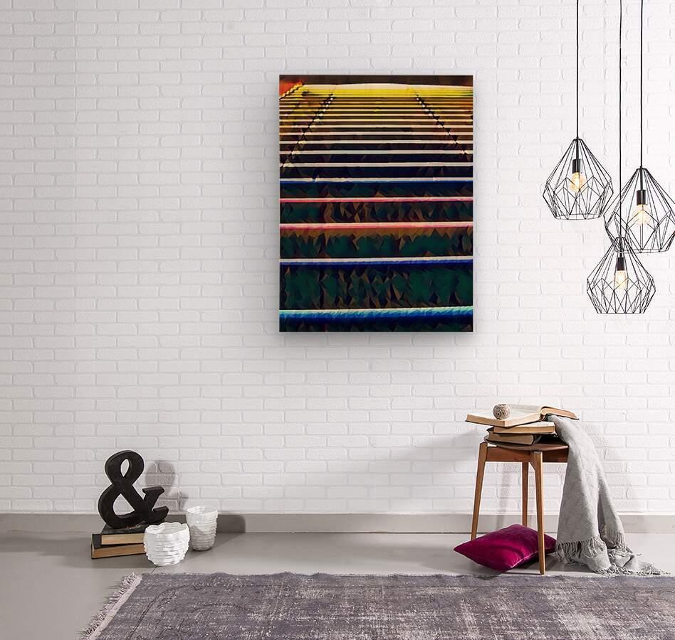 Window Blinds  Wood print