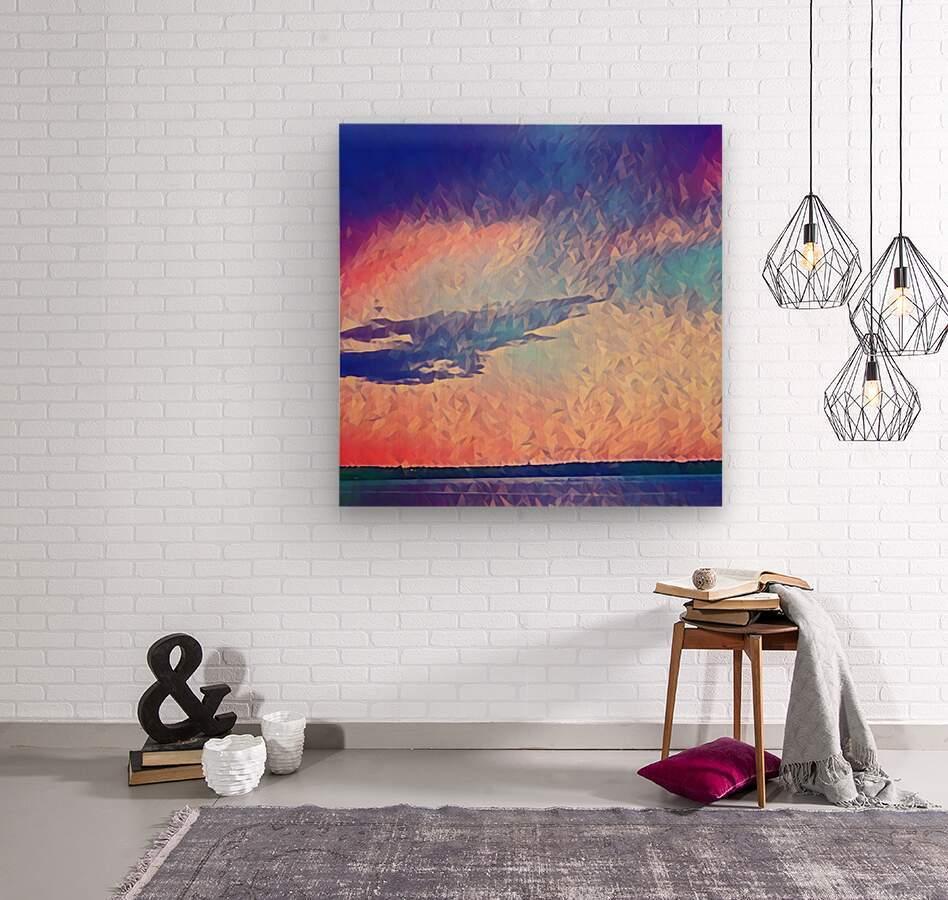 Pink Purple & Peach  Wood print