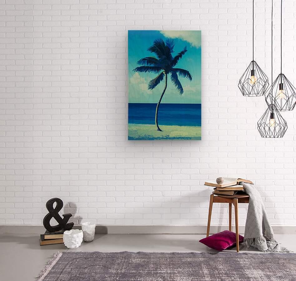 palm color 6  Wood print