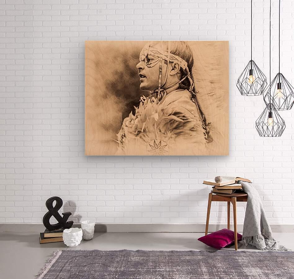 Native American 6  Wood print