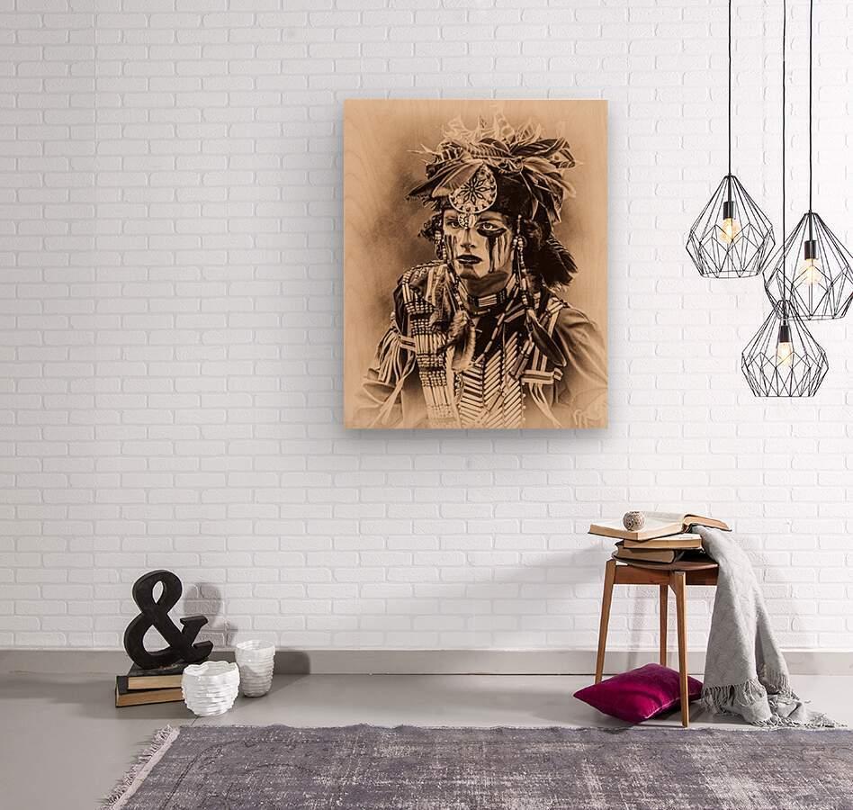 Native American 4  Wood print